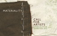 MATERIALITY CALL FOR ARTISTS - Moore College of Art and Design