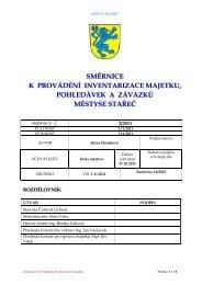 směrnice k provádění inventarizace majetku ... - Městys Stařeč