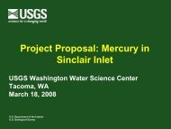Mercury in Sinclair Inlet - Water Resources of Washington - USGS