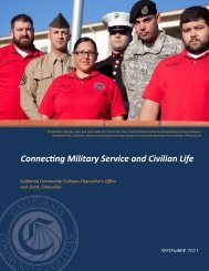 Connecting Military Service and Civilian Life - California Community ...
