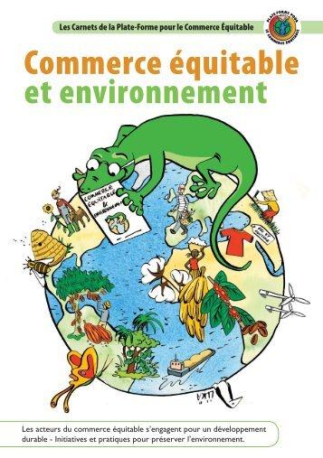 Carnet Commerce Equitable et Environnement - la Plate-Forme ...