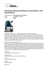 Kostenlose Nintendo Wii Black Limited Edition + Wii ... - Fair-news.de