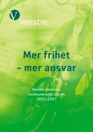 Venstre_valgprogram - Bamble kommune