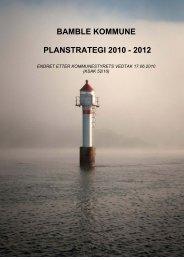 BAMBLE KOMMUNE PLANSTRATEGI 2010 - 2012