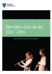 Informasjonsbrosjyre 2013 - Bamble kommune