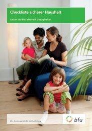 Checkliste sicherer Haushalt - Gesundheit Sprechstunde