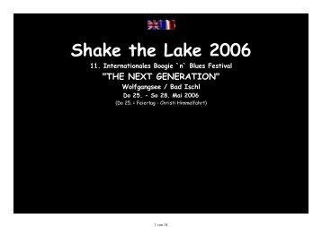 Shake the Lake 2006