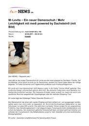 Ein neuer Damenschuh / Mehr Leichtigkeit mit medi ... - Fair-news.de