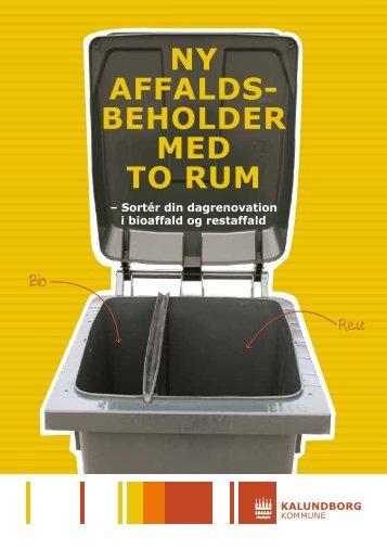 Ny affalds- beholder med to rum - Tankegang