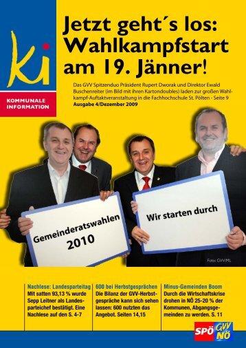 Jetzt geht´s los - SPÖ Gemeindevertreterverband NÖ