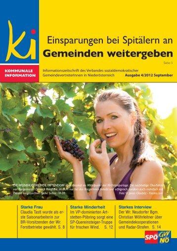 Einsparungen bei Spitälern an Gemeinden weitergeben - SPÖ ...