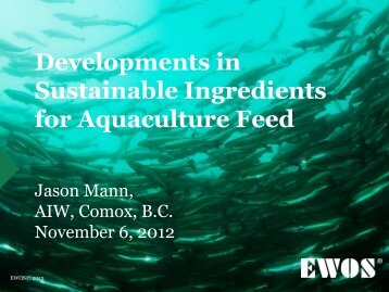 Developments in Sustainable Ingredients for ... - Tides Canada