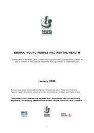Drama, Young People and Mental Health - HUG - uk.net