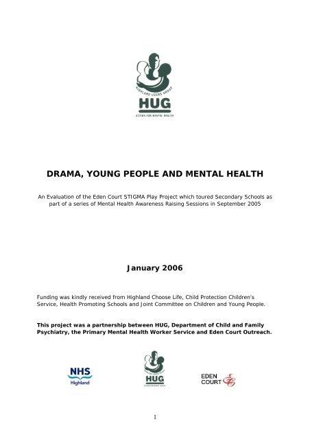 Drama Young People And Mental Health Hug Uk Net