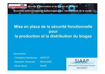 Mise en place de la sécurité fonctionnelle pour la production et la ...