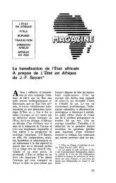 Etat en Afrique - Politique Africaine