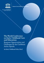 The World Conference on Early Childhood Care and Education: