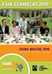 FAir schMeckt Mir! – FAirer hAnDeL in Der GAstronoMie - Faire Woche