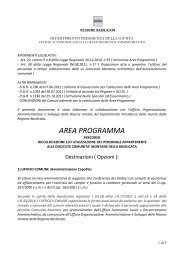 AREA PROGRAMMA - Regione Basilicata