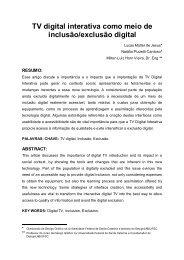 TV digital interativa como meio de inclusão / exclusão digital Milton ...