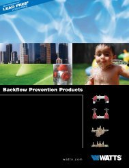 Watts Backflow Prevention Products Guide - Air Delights