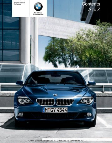 Owner's Manual for Vehicle The Ultimate Driving ... - Irvine BMW