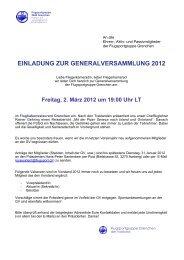 einladung zur generalversammlung 2012 - Flugsportgruppe Grenchen