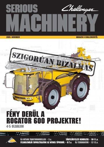 Serious Machinery, 2009 November (PDF, 1 285 KB) - Huntraco Zrt.
