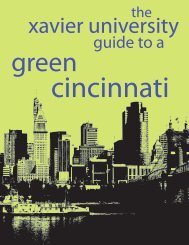 cincinnati green guide - Xavier University