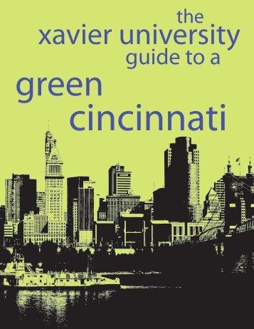 cincinnati green guide - Xavier University