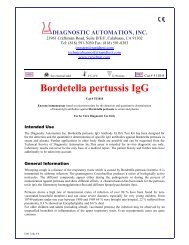 Bordetella pertussis IgG - ELISA kits - Rapid tests