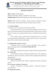 memorial descritivo - cobertura quadra - Prefeitura Municipal de São ...