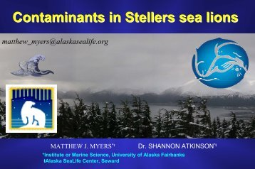 Contaminants in Stellers sea lions - National Marine Fisheries ...