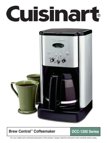 Cuisinart Brew Central Coffeemaker DCC2200 Series