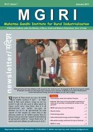 NewsLetter Jan 2011 - Mahatma Gandhi Institute for Rural ...