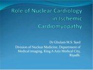 Role of Nuclear Cardiology in Ischemic Cardiomyopathy - Sha ...