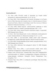 Publikációs lista - DE Pszichológiai Intézet - Debreceni Egyetem