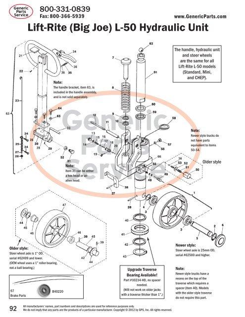 10242 ROLL PIN LIFT RITE L-50 HYDRAULIC UNIT