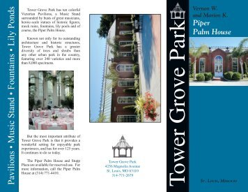 Piper Palm House - Tower Grove Park