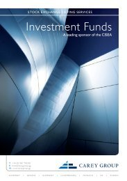 Stock Exchange Listing Services - Investment Funds - Carey Group
