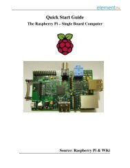 The Raspberry Pi – Single Board Computer - Farnell