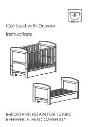 Cot bed with Drawer Instructions - Toys R Us
