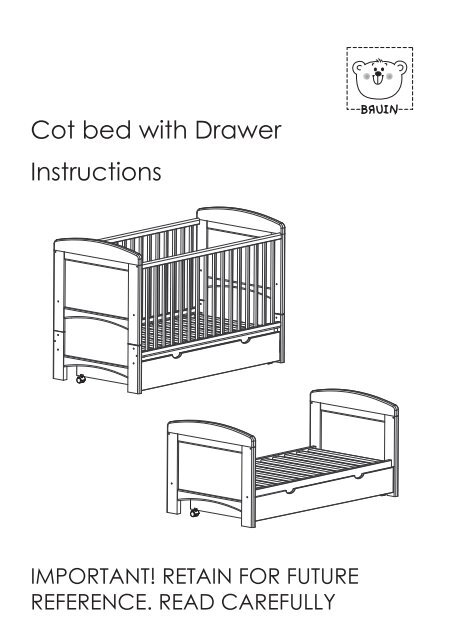 Astounding Cot Bed With Drawer Instructions Toys R Us Lamtechconsult Wood Chair Design Ideas Lamtechconsultcom