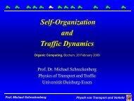 Physik von Transport und Verkehr Prof. Michael Schreckenberg - KIT