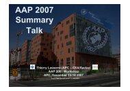 AAP 2007 Summary Talk - APC