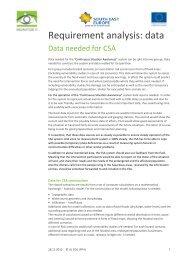 Report on CSA Requirement Analysis Data