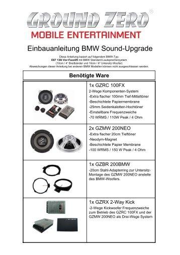 BMW Standard-Komponenten Frequenzgang-Kurve - AudioImport