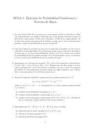HOJA 1. Ejercicios de Probabilidad Condicional y Teorema de Bayes