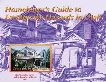 Homebuyer's Guide to Earthquake Hazards in Utah
