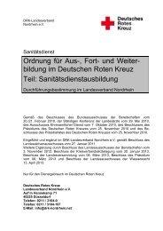 und Weiterbildung im DRK Landesverband Nordrhein - Teil